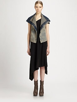 Rick Owens DRKSHDW - Stretch Denim Biker Vest