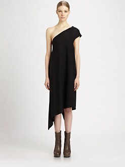 Rick Owens DRKSHDW - One-Shoulder Dress