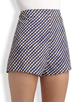 A Detacher - Plaid Mini Shorts