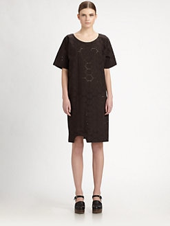 A Detacher - Cotton Eyelet Knot Dress