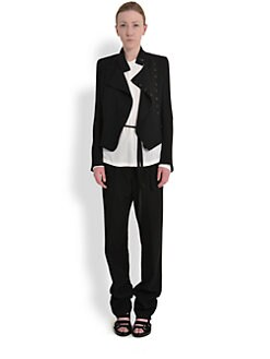 Ann Demeulemeester - Asymmetrical Double-Breasted Wool Jacket