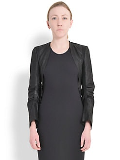 Ann Demeulemeester - Open-Front Leather Jacket