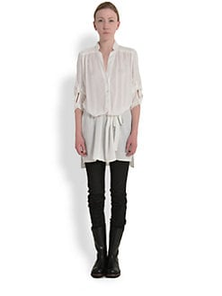 Ann Demeulemeester - Belted Cotton Tunic