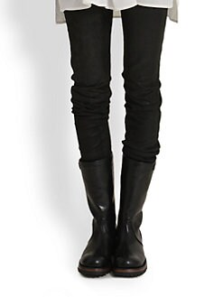 Ann Demeulemeester - Leather Skinny Pants
