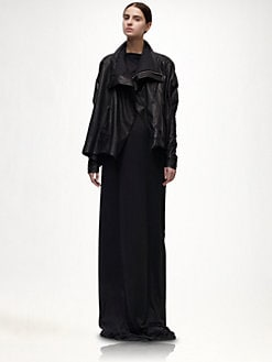 Rick Owens - Asymmetrical Leather Jacket