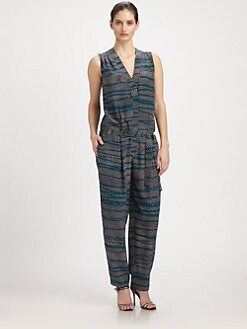 Thakoon - Belted Silk Jumpsuit