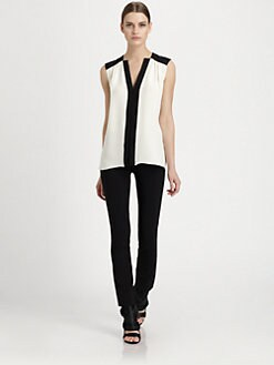 Derek Lam - Bi-Color Silk Blouse