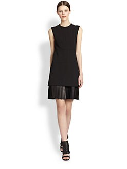 Derek Lam - Leather-Skirt Dress