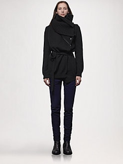 Ann Demeulemeester - Zip-Off Collar Cardigan