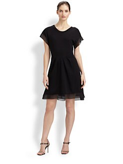 Thakoon - Organza-Trimmed Wool Dress