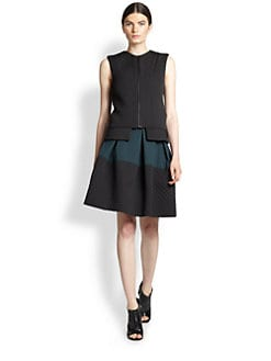 Derek Lam - Diamond Matelasse Zip-Front Top