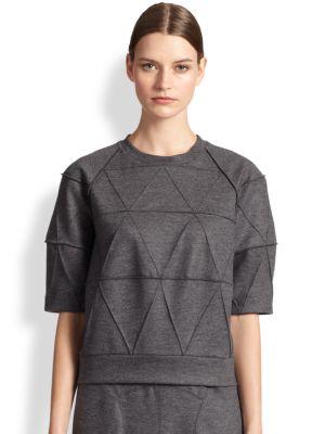Raised-Seam Sweatshirt