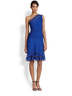 Tadashi Shoji - One-Shoulder Cocktail Dress