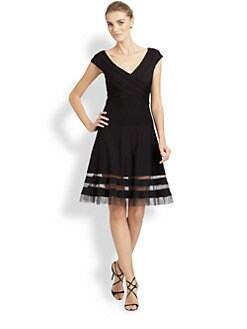 Tadashi Shoji - Cap-Sleeve Dress