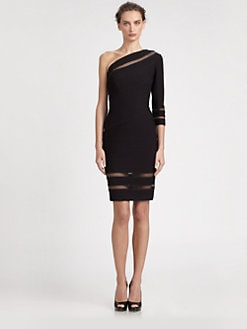 Tadashi Shoji - Asymmetrical Pintuck Dress