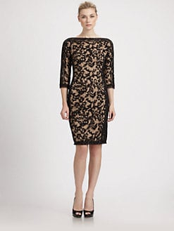 Tadashi Shoji - Embroidered Lace Dress