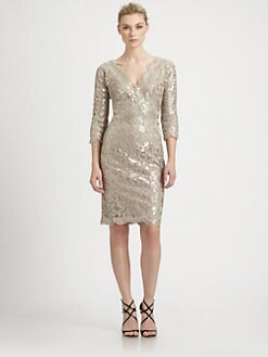 Tadashi Shoji - Sequined Lace Dress