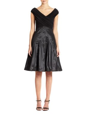 Taffeta Fit-And-Flare Dress