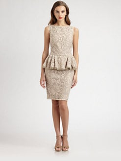 Tadashi Shoji - Lace Peplum Dress