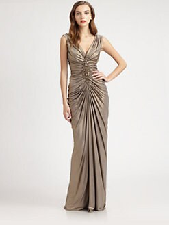 Tadashi Shoji - Metallic Jersey Dress