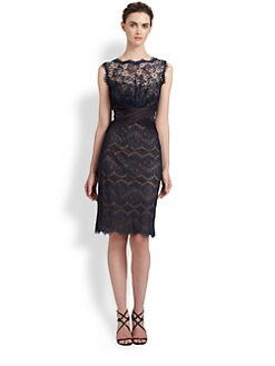 Tadashi Shoji - Lace Cross-Front Dress