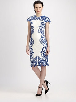 Tadashi Shoji - Lace Appliqu&eacute; Dress