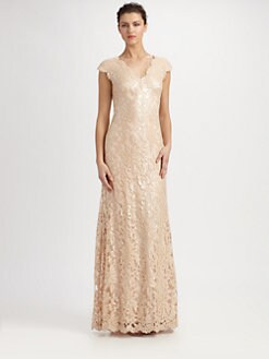 Tadashi Shoji - Sequined Lace Gown