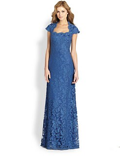 Tadashi Shoji - Lace Peplum Gown
