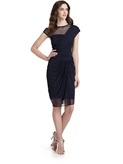 Tadashi Shoji - Draped Mesh Dress