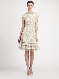 Tadashi Shoji - Embroidered Inset Dress