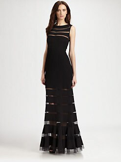 Tadashi Shoji - Pintuck Gown