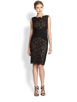 Tadashi Shoji - Scalloped Lace Cocktail Dress