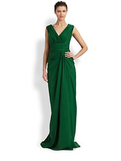 Tadashi Shoji - Draped & Ruched Gown