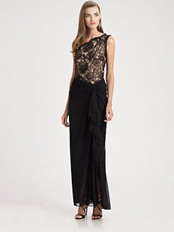 Tadashi Shoji - Asymmetrical Gown
