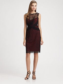 Tadashi Shoji - Lace Overlay Dress