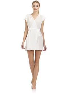 Oscar de la Renta Sleepwear - Short Sheer Wrap