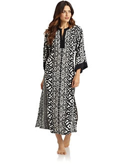 Oscar de la Renta Sleepwear - Modern Jungle Robe