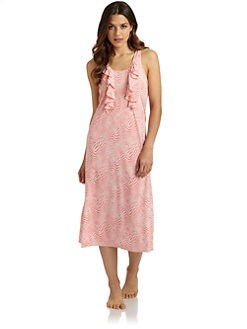 Oscar de la Renta Pink Label - Sweet Safari Nightgown/Salmon