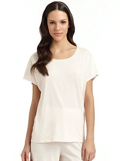 Donna Karan - Pima Cotton Short-Sleeve Tee/Pink