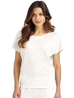 Donna Karan - Pima Cotton Short-Sleeve Tee/Grey