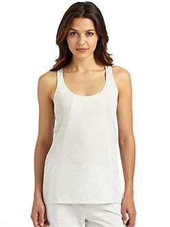 Donna Karan - Ribbed Racerback Tank Top
