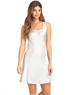 Nicole Miller - Satin Panel Chemise/Grey