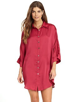 Nicole Miller - Satin Night Shirt