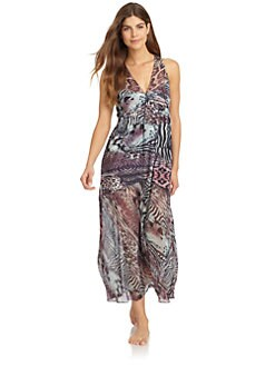 Nicole Miller - Chiffon Wild Animal Sleep Dress