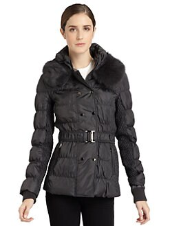 Via Spiga - Quited Fur Collar Short Jacket