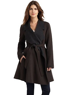 Dawn Levy - Wool & Cashmere Two Toned Coat