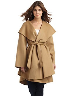 Dawn Levy - Wool & Cashmere Wrap Coat