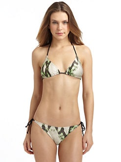 Just Cavalli - Snake Print Triangle Bikini/Green