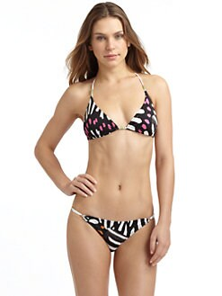 Just Cavalli - Graphic Print Triangle Bikini