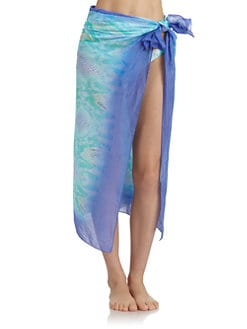 Just Cavalli - Cotton Snakeskin Print Sarong